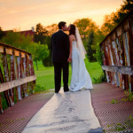 lake view pavilion wedding photos
