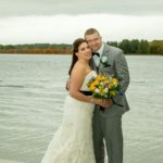 Lakeside wedding photo